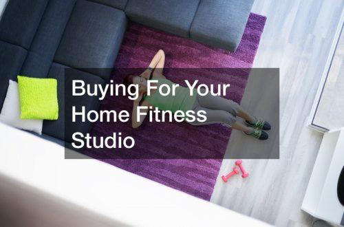 Home fitness studio design
